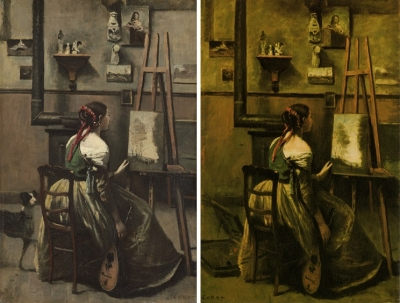 corot the artists studio