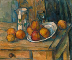 cezanne Still Life with Milk Jug and Fruit
