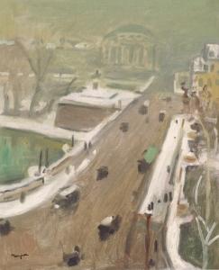 uehara Albert Marquet Neige et ciel vert, Paris (Le Pont Neuf)