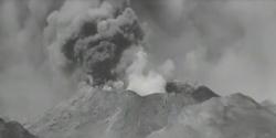 波ではなく火山の噴火の