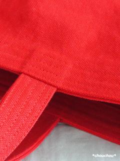 赤トート 縫い目