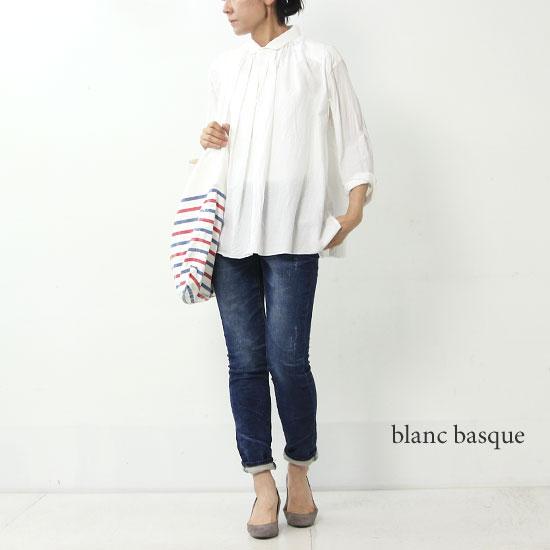 blanc basque (ブランバスク) インディゴ裏毛ストレッチパンツ