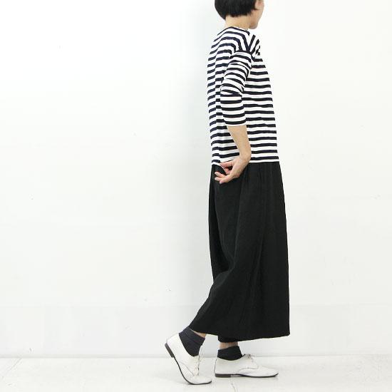 ina (イナ) レーヨンスパンボートネックボーターTシャツ