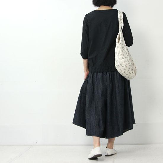 ina(イナ) ブロード前裾変形ブラウス