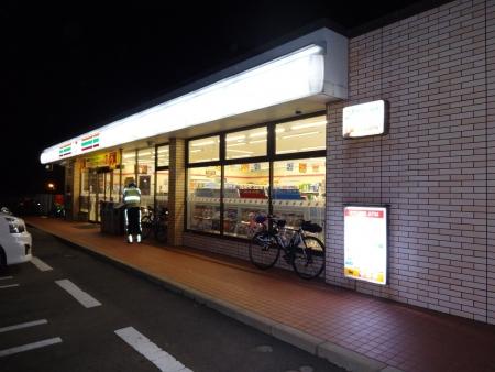 058K30をひたすら走り銚子に到着、PC4の銚子犬吠埼店です、22時に到着、PC3から約100㌔ヘロヘロ