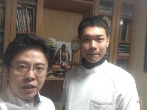 野崎先生とツーショット