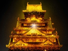 大阪城イルミ6
