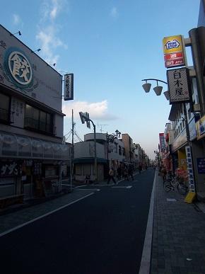 年の瀬の商店街