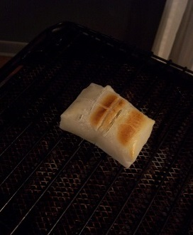 餅が焼ける