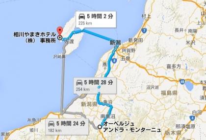 地図②⇒佐渡へ