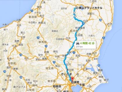 地図④⇒自宅