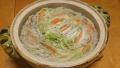 白菜と豚肉の土鍋蒸し ごま豆乳味 20150126