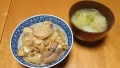 親子丼 白菜のお味噌汁 20150224