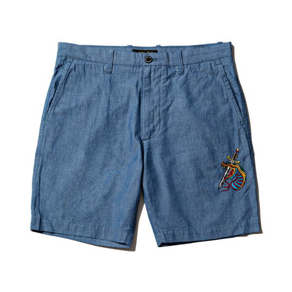 SOFTMACHINE VIPER CHAMBRAY SHORTS