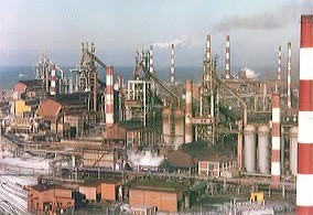 浦項製鉄所の全景
