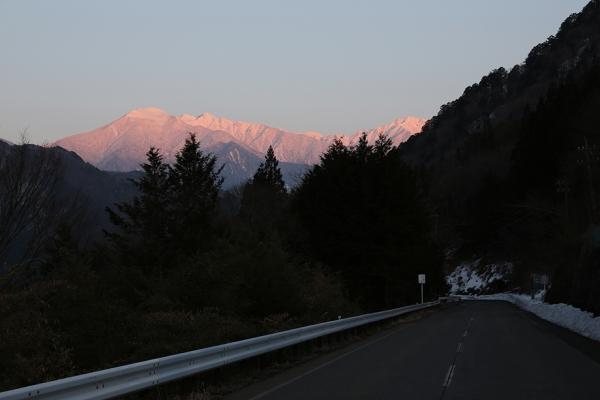 木曽駒夕景