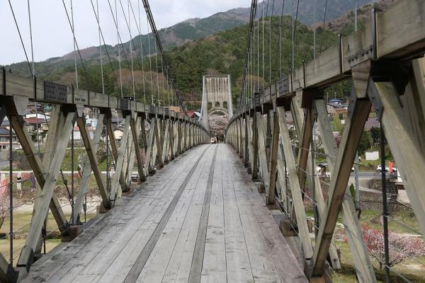 南木曽の橋、久しぶりに来た