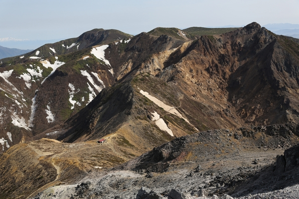 那須岳 この山もかっこいい。