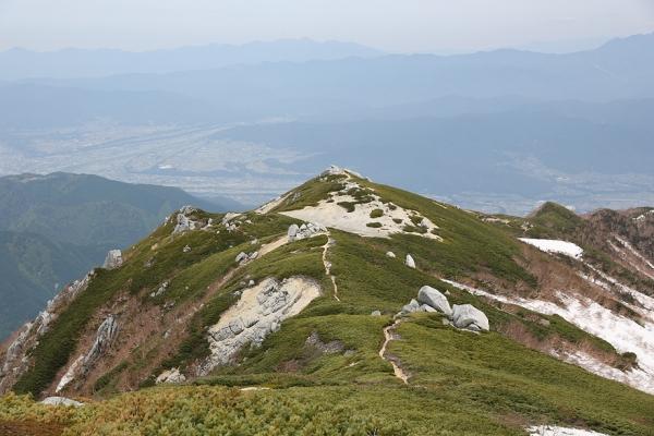 素敵な景色を眺めながら下山