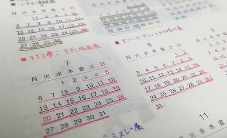 ほぼ日手帳2015 年間カレンダー