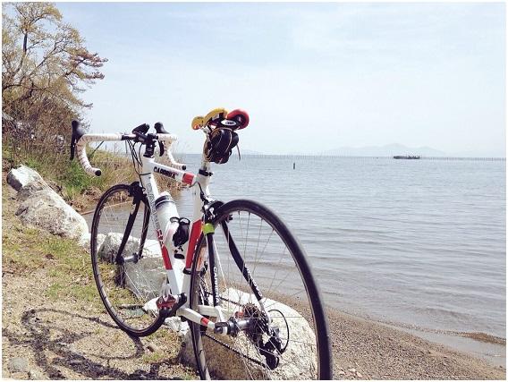 琵琶湖と教官