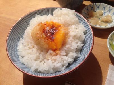天ぷらめし 金子半之助 卵の天ぷら