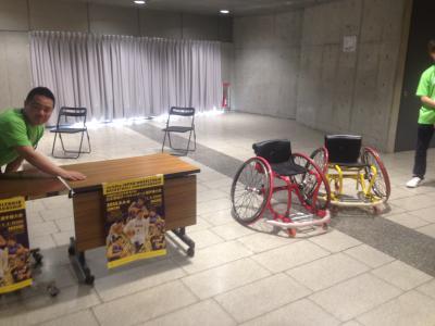 車椅子バスケ 体験コーナー