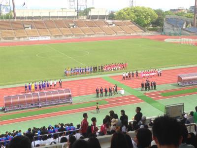 サッカー関関戦 西京極