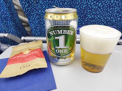 機内で飲んだニューカレドニアビール