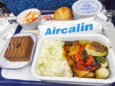 エアカランの機内食(肉料理)