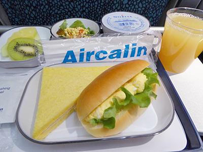 エアカランの機内食(サンドイッチ)