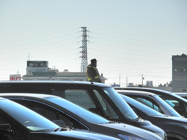 20150110寒川神社近辺の駐車場