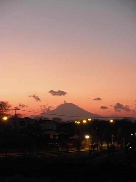20150119夕焼けの富士山