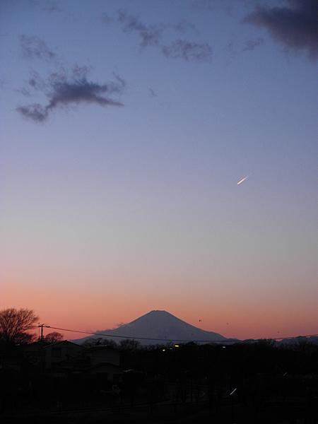 20150215夕焼けと富士山