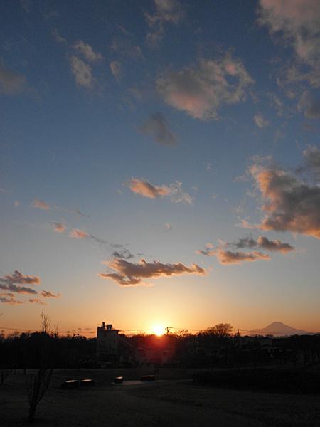 20150215夕焼けと富士山②