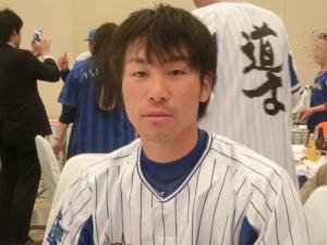 頼りにしてます!副キャプテン・山崎憲晴選手。