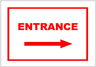 Entrance Right Sign Template