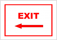 Exit Left Sign Template