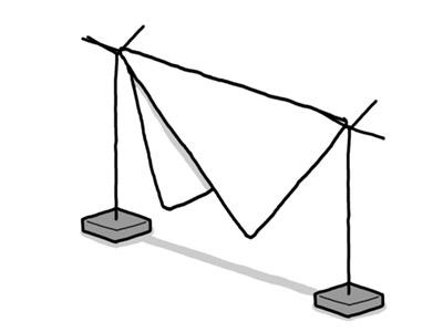 逆三角形干し