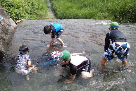 四十八瀬で川遊び1