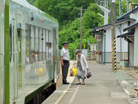 列車到着1