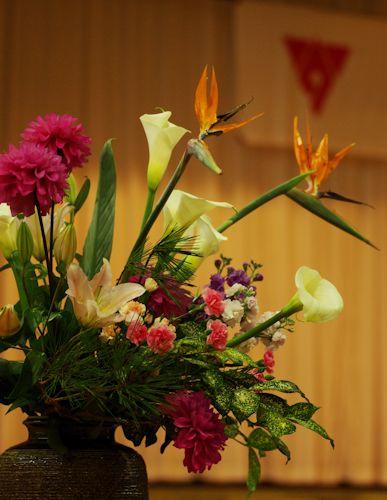 卒業式のお花