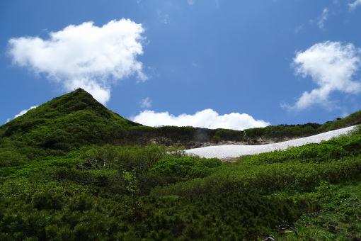 雪渓はこんくらい