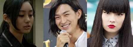 松田翔太と秋元梢元と元カノの忽那汐里の画像