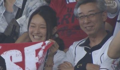 西武VS阪神を観戦しにきたライオンズファンの女の子