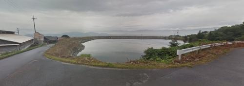 矢野龍毅くんが亡くなった香川県三豊市豊中町下高野の地図と溜池の画像