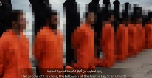 イスラム国によるエジプト人21人斬首の画像