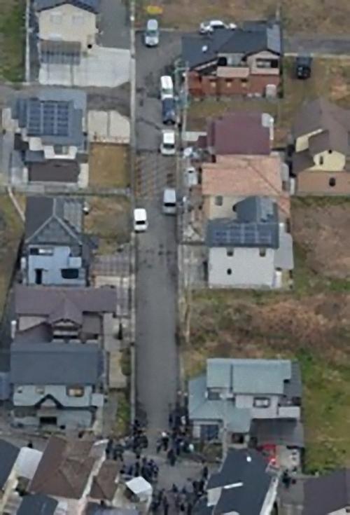 森田都史君を殺害した犯人と被害者の家の位置の画像