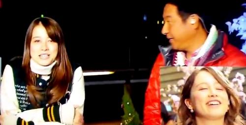 ドーキンズ英里奈と上重聡アナのズムサタ卒業式の画像