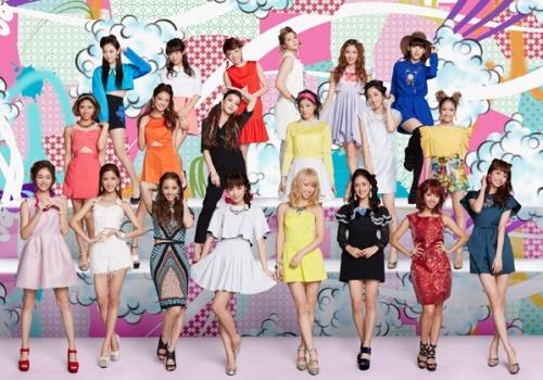 再編を発表したE-girls のメンバー構成の画像